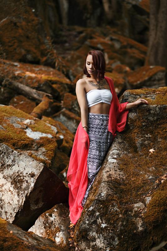 Foto zum Blogartikel - Mit Sunisa an der Steinwand