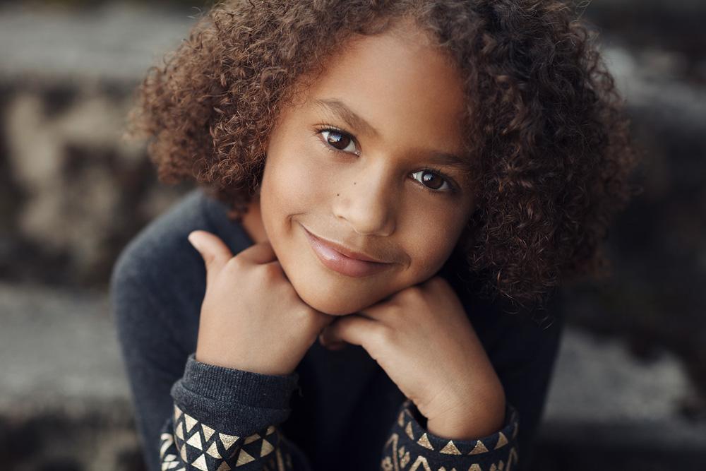 Portrait von einem siebenjährigen Kind