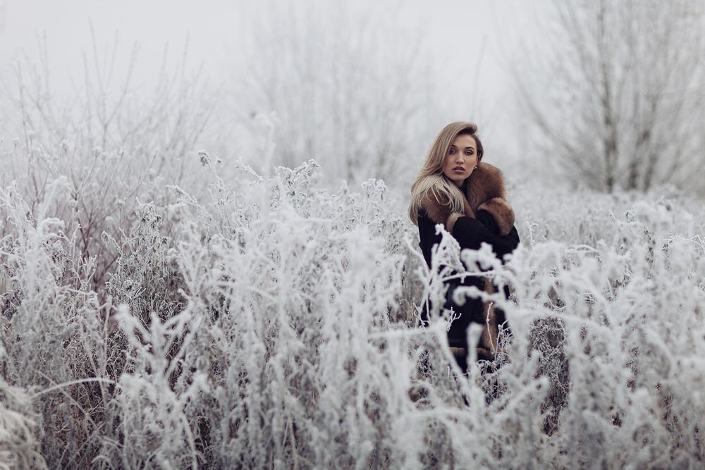 Portrait von Julia im Winter