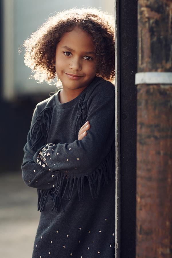 Portrait von einem siebenjährigen Mädchen