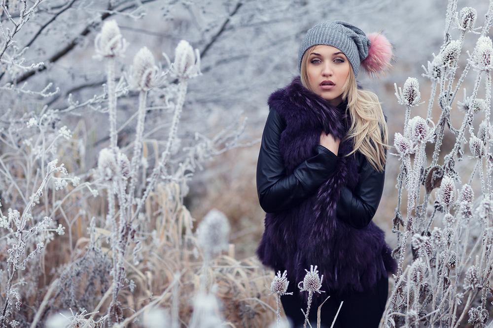 Portraitfotografie im Schnee