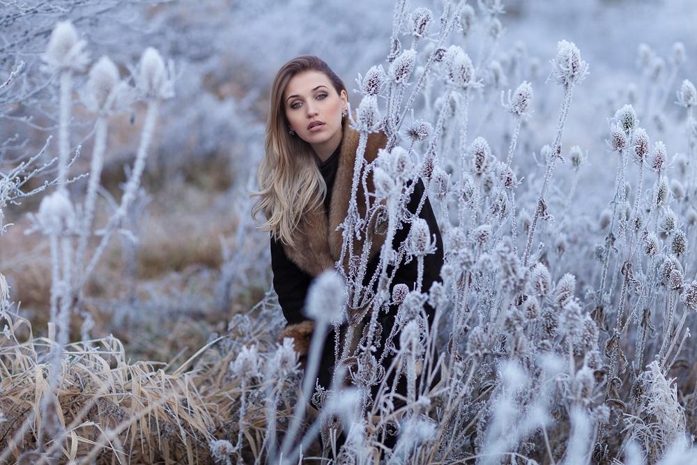 Ein Portrait von Julia im Winter