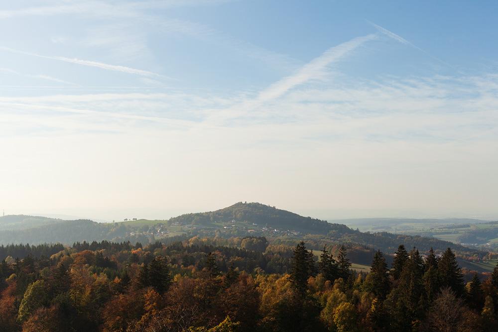 Landschaftsfoto vom Wachtküppel in der Rhön