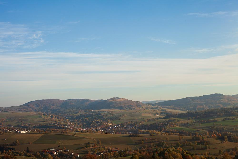 Landschaftsaufnahme vom Wachtküppel in der Rhön