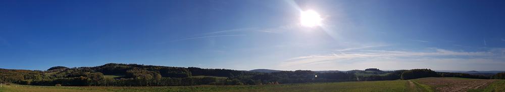 Panoramaaufnahme von der Rhön